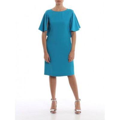 Female's Alberta Ferretti Spring Summer 2020 butterfly sleeve crepe dress Size 12 Boutique Casual DGAO297